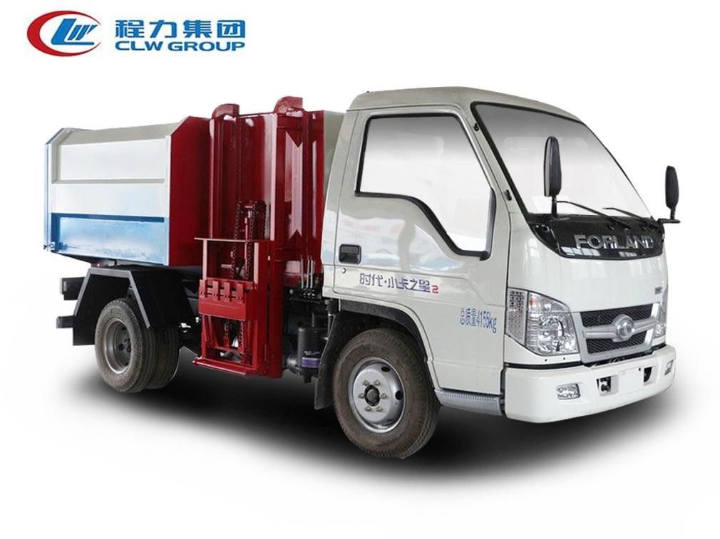 福田时代小卡之星【3立方】挂桶式垃圾车