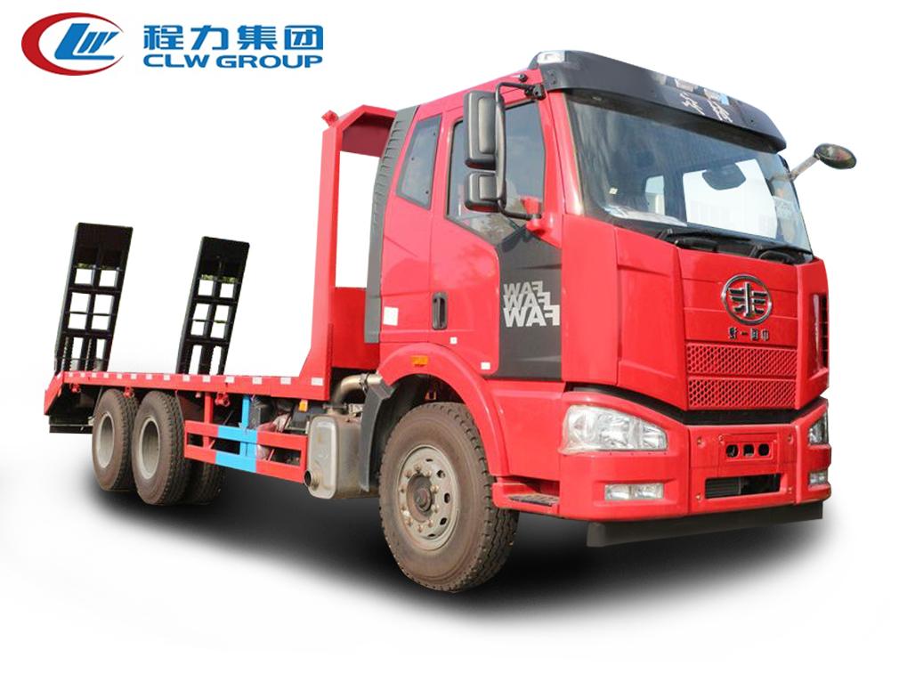 6X4后双桥【15-25吨】【拖300型号挖机及以下】平板运输车