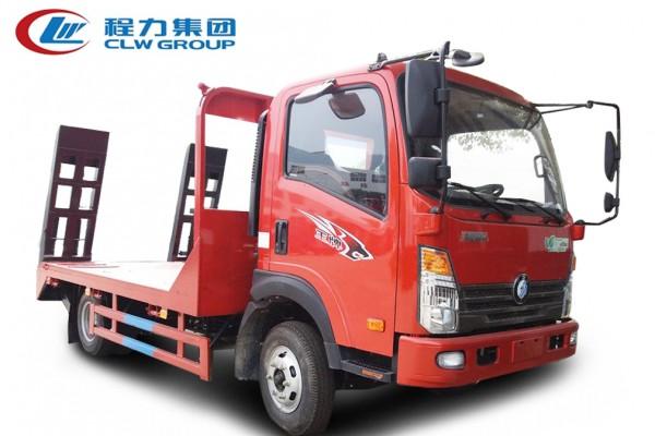 4X2蓝牌【6-10吨】【拖80型号挖机及以下】平板运输车