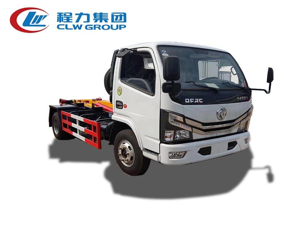 【国六】东风多利卡D6【5立方】勾臂环卫垃圾车